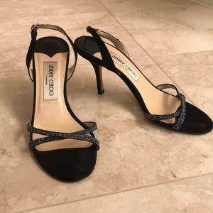 Blue glitter Jimmy Choo sandals